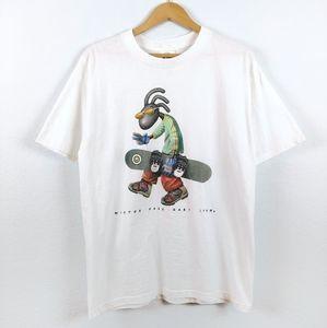 Vtg 90s Colorado Snowboard Ski Mary Jane Tshirt